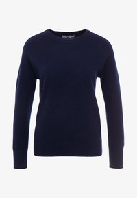 pure cashmere - CLASSIC CREW NECK  - Sweter - navy - 3