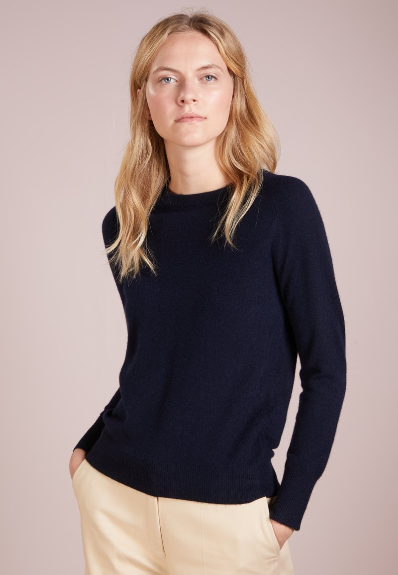 pure cashmere - CLASSIC CREW NECK  - Sweter - navy