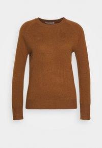 pure cashmere - CLASSIC CREW NECK  - Svetr - deep camel - 0
