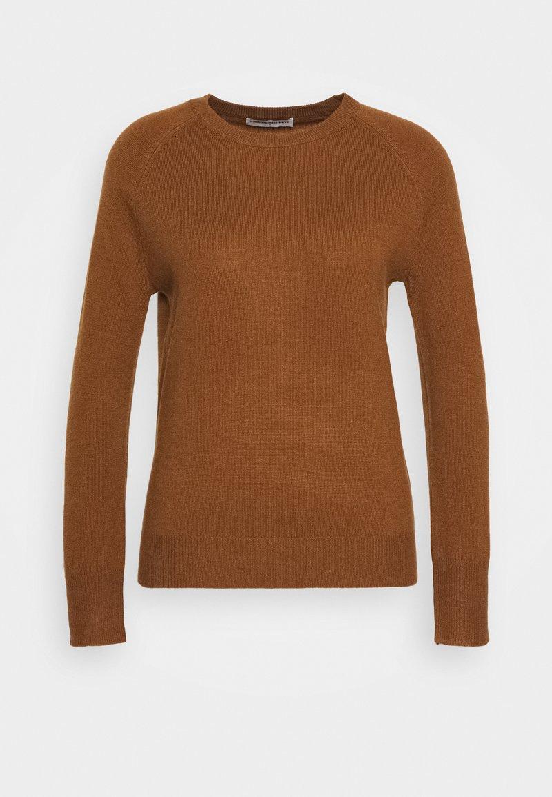 pure cashmere - CLASSIC CREW NECK  - Svetr - deep camel