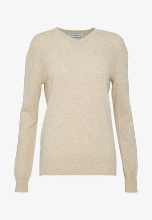 V NECK - Pullover - oatmeal