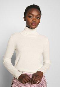 pure cashmere - TURTLENECK SWEATER - Neule - ivory - 3