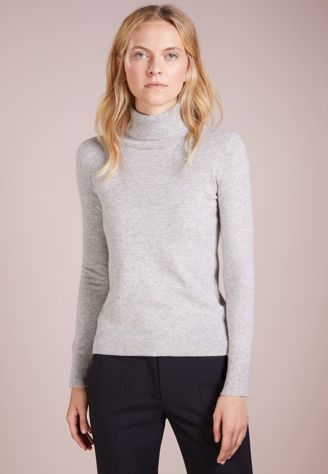 TURTLENECK - Stickad tröja - light grey