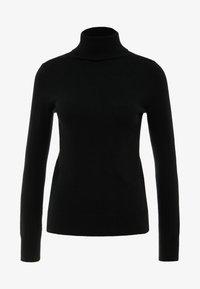 pure cashmere - TURTLENECK SWEATER - Svetr - black - 3