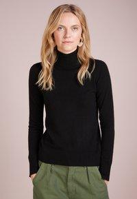 pure cashmere - TURTLENECK SWEATER - Svetr - black - 0