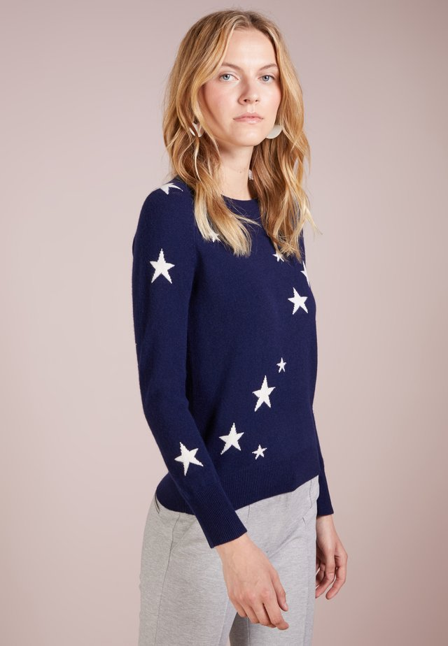 JAQUARD - Sweter - navy / ivory