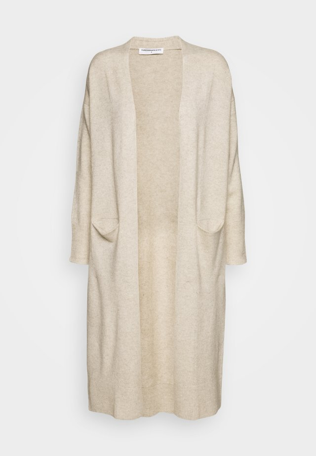 LONG CARDIGAN - Cardigan - oatmeal