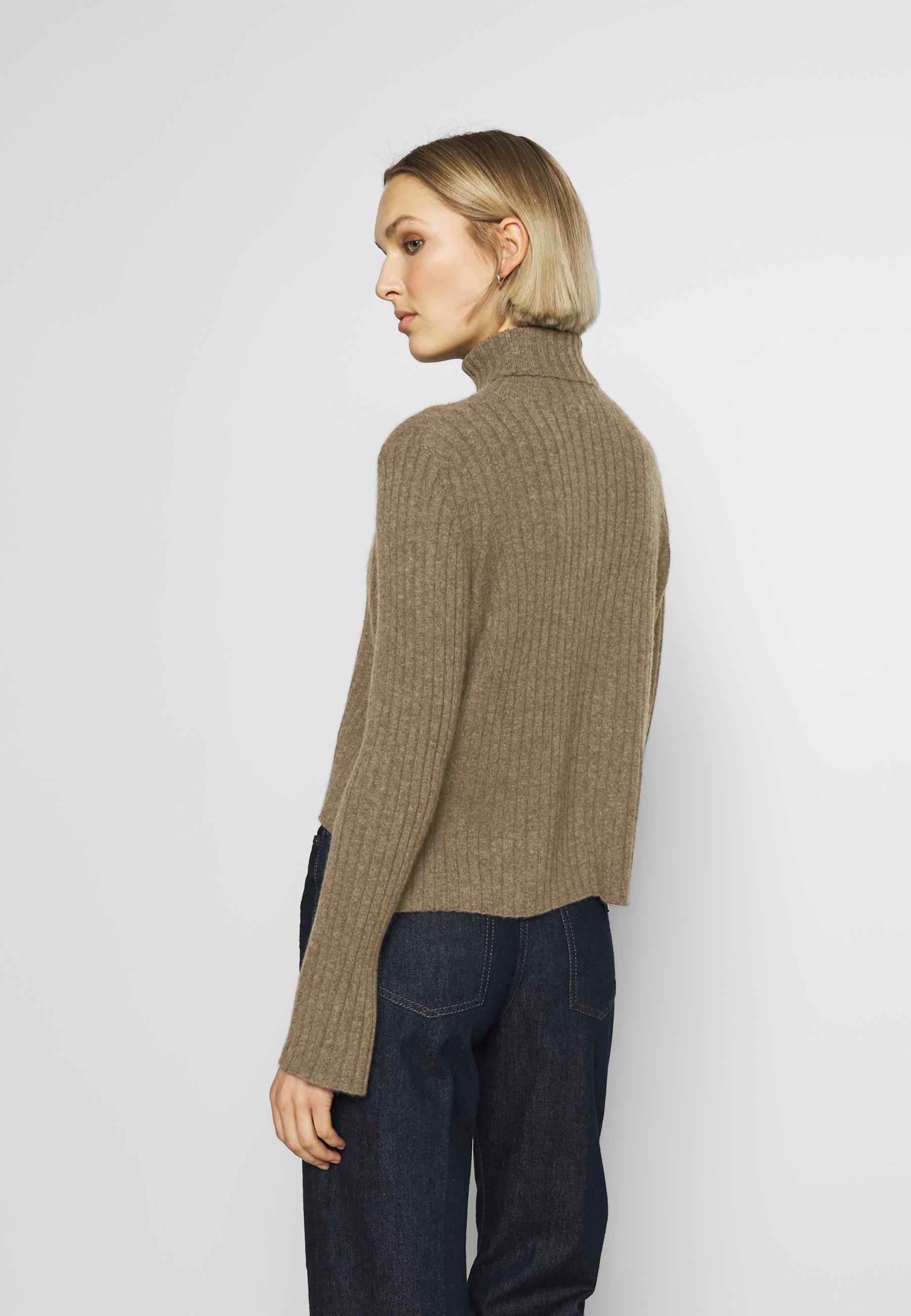 pure cashmere TURTLENECK SWEATER - Strikkegenser - heathered  brown