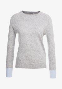 pure cashmere - CLASSIC CREW NECK - Trui - light grey/baby blue - 3