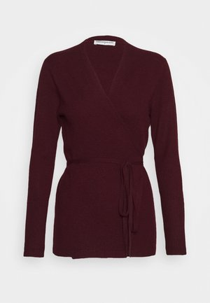 WRAP CARDIGAN - Cardigan - burgundy