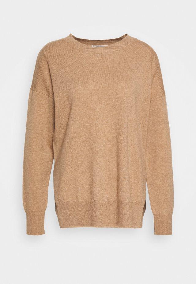 Strikpullover /Striktrøjer - dark beige