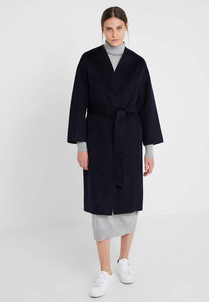 pure cashmere - ROBE COAT - Wollmantel/klassischer Mantel - navy