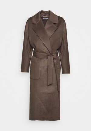 BELTED COAT - Classic coat - cocoa brown