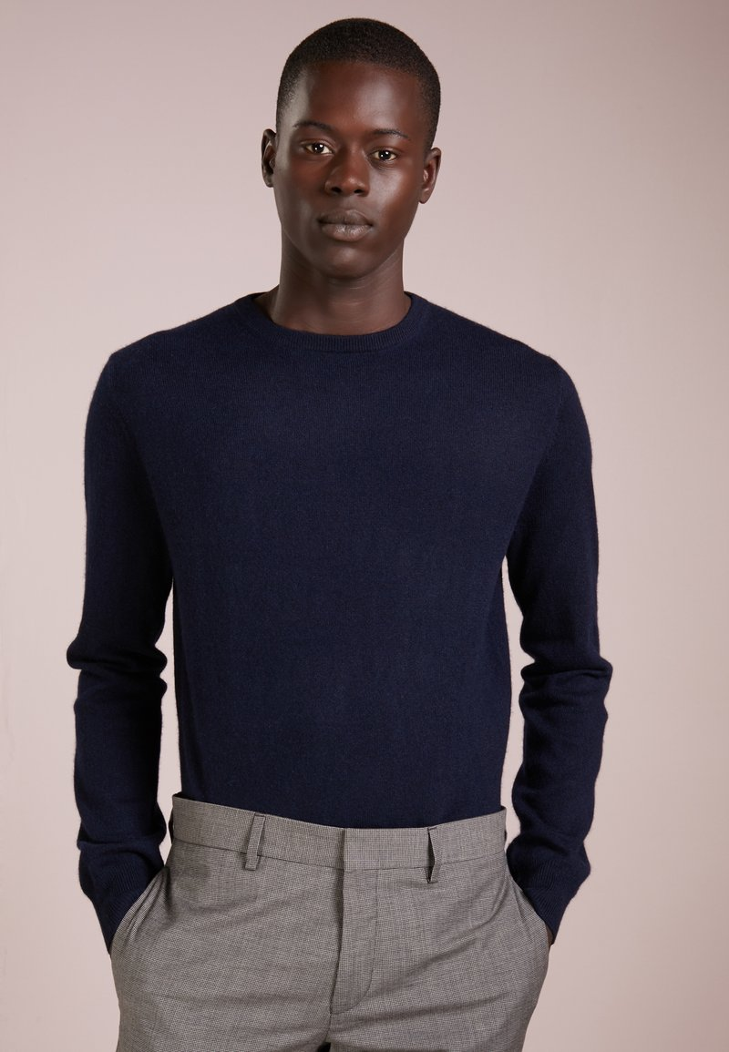 pure cashmere - MENS CREW NECK SWEATER - Sweter - dark navy