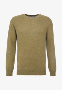 pure cashmere - MENS CREW NECK SWEATER - Strikkegenser - olive - 3