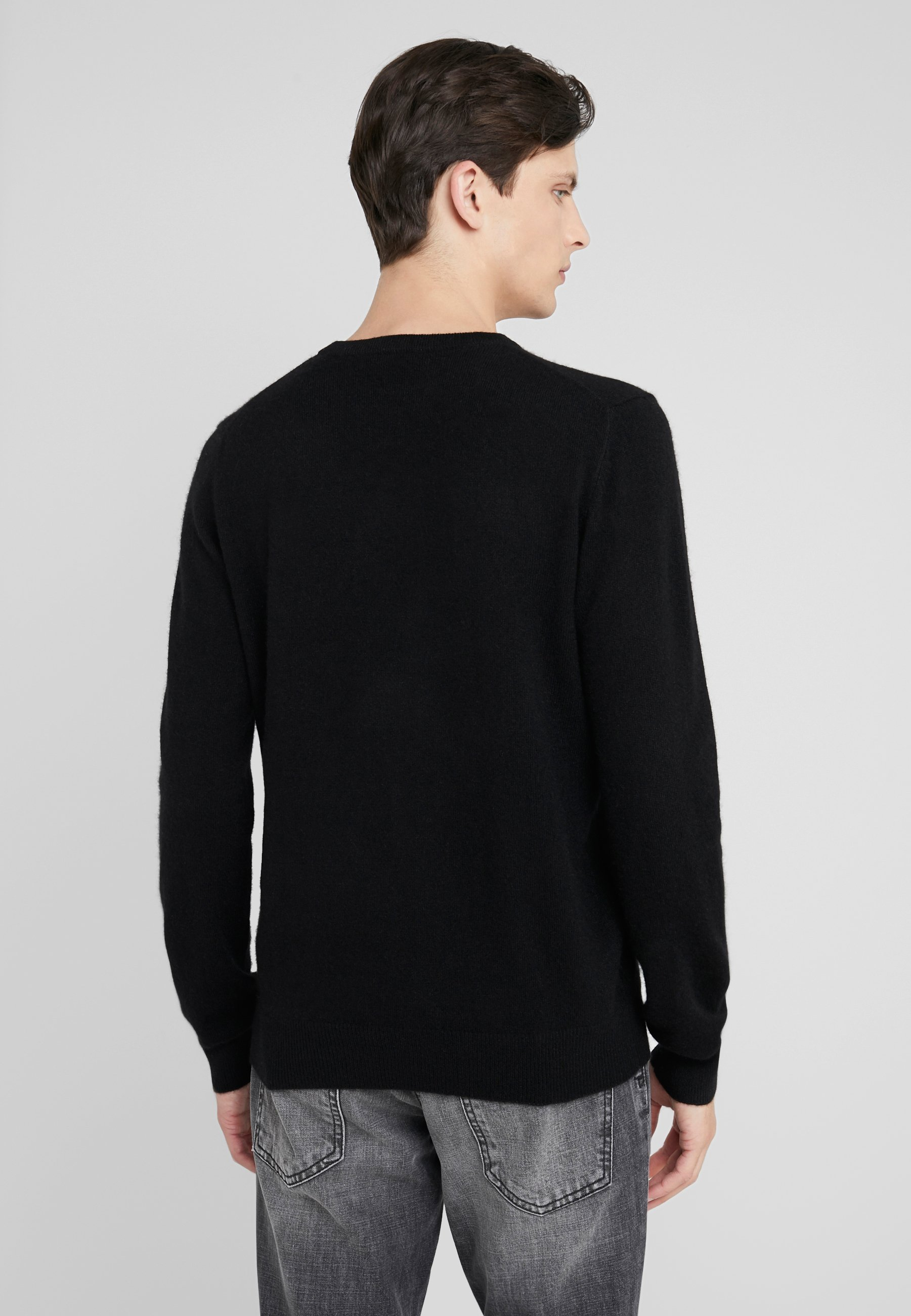 Crew SweaterPullover Pure Mens Neck Black Cashmere hrdCsQt