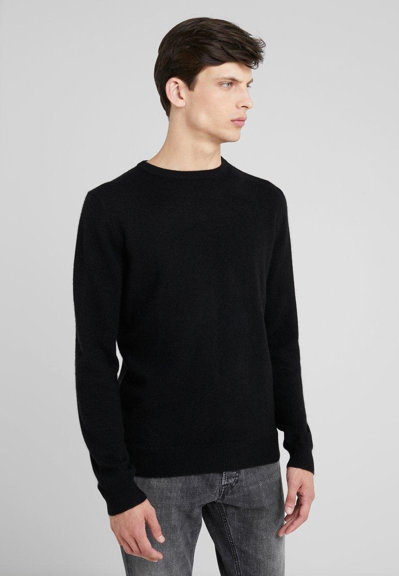 pure cashmere - MENS CREW NECK SWEATER - Pullover - black