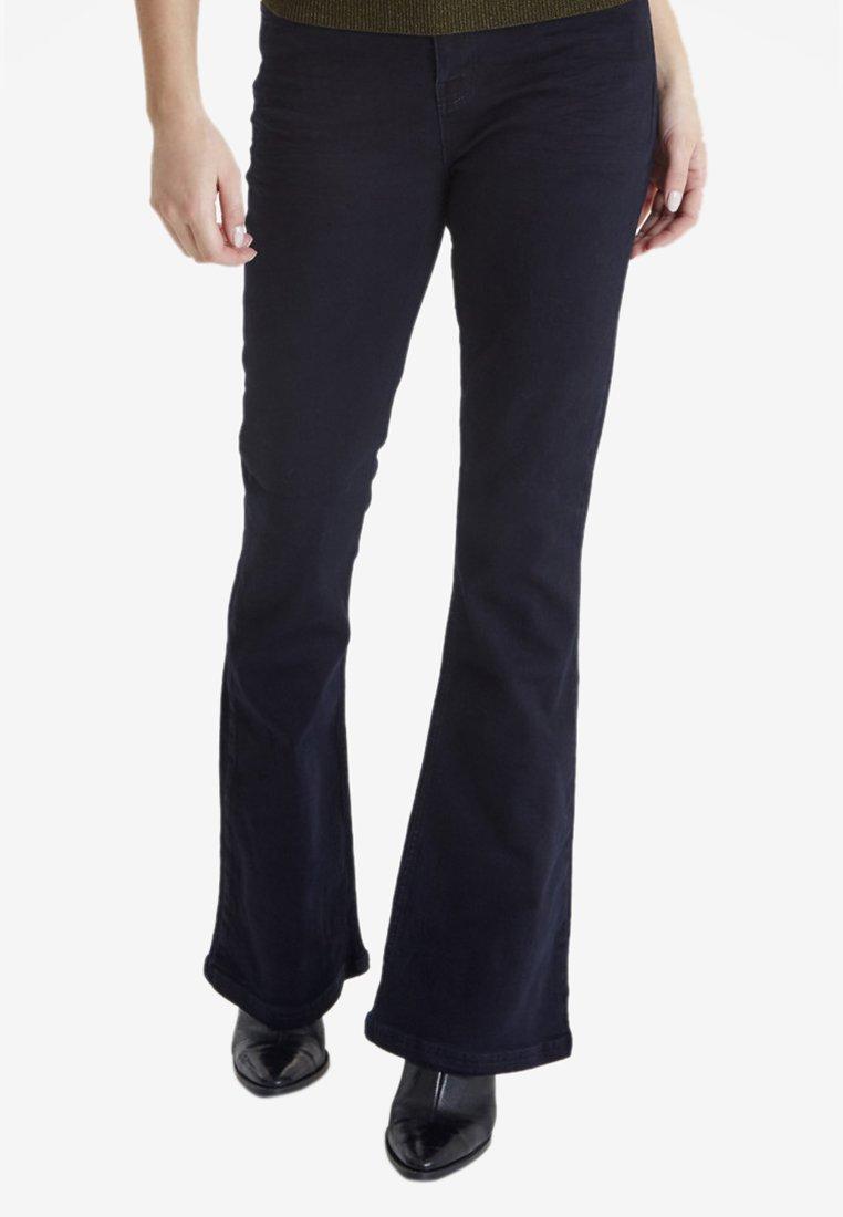 PULZ - LIVA - Bootcut jeans - blue denim