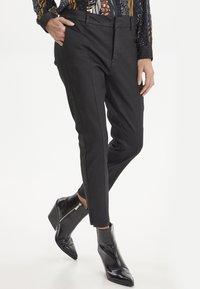 PULZ - PZCLARA - Pantalon classique - black - 0