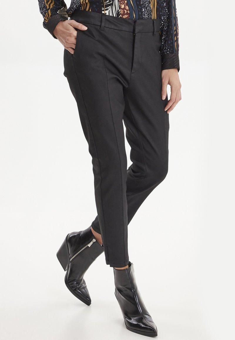 PULZ - PZCLARA - Pantalon classique - black
