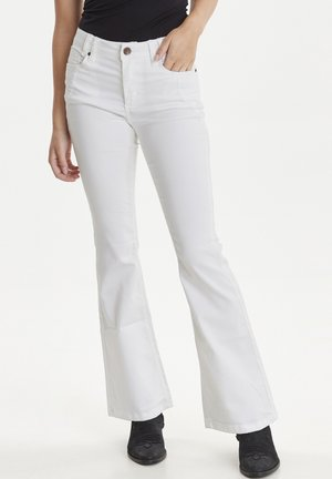 PZRITA  - Flared jeans - bright white