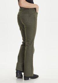 PULZ - PZRITA  - Flared Jeans - brown - 3
