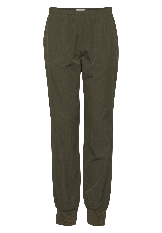 PULZ PXPHILLIPA - Spodnie treningowe - olivine