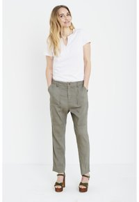 PULZ - Trousers - covert green - 1