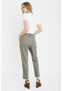PULZ - Trousers - covert green - 3