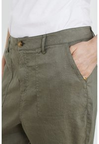 PULZ - Trousers - covert green - 4