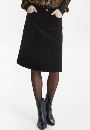 PZKELLY - A-line skirt - black
