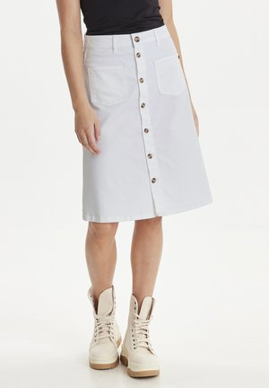 DITTE - A-lijn rok - bright white