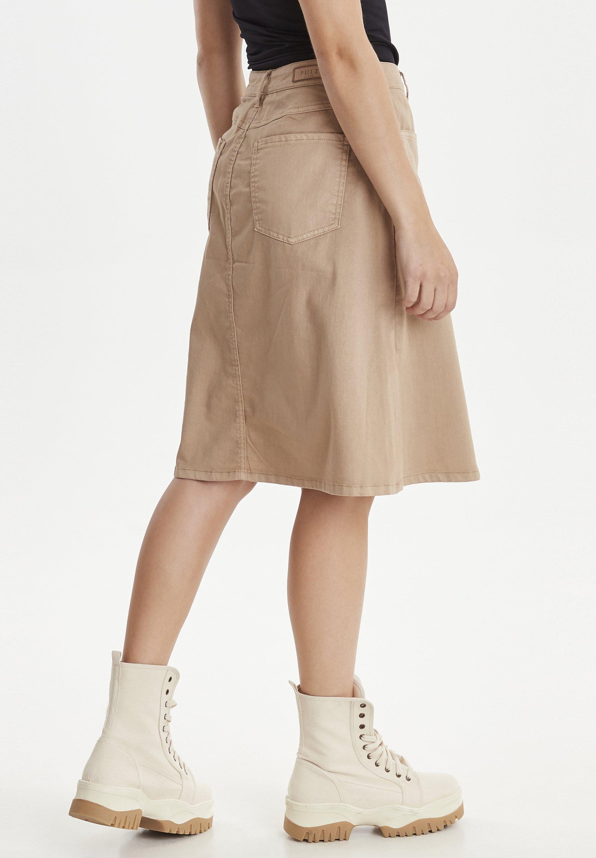 PULZ DITTE - Spódnica trapezowa - tannin