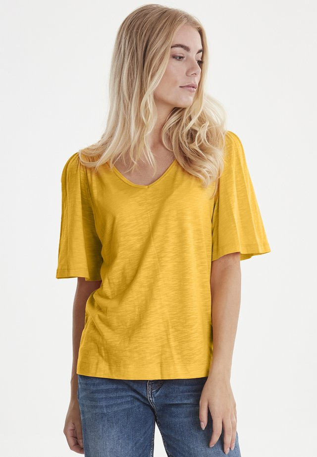 PZLERCHE - T-shirt basic - dark yellow