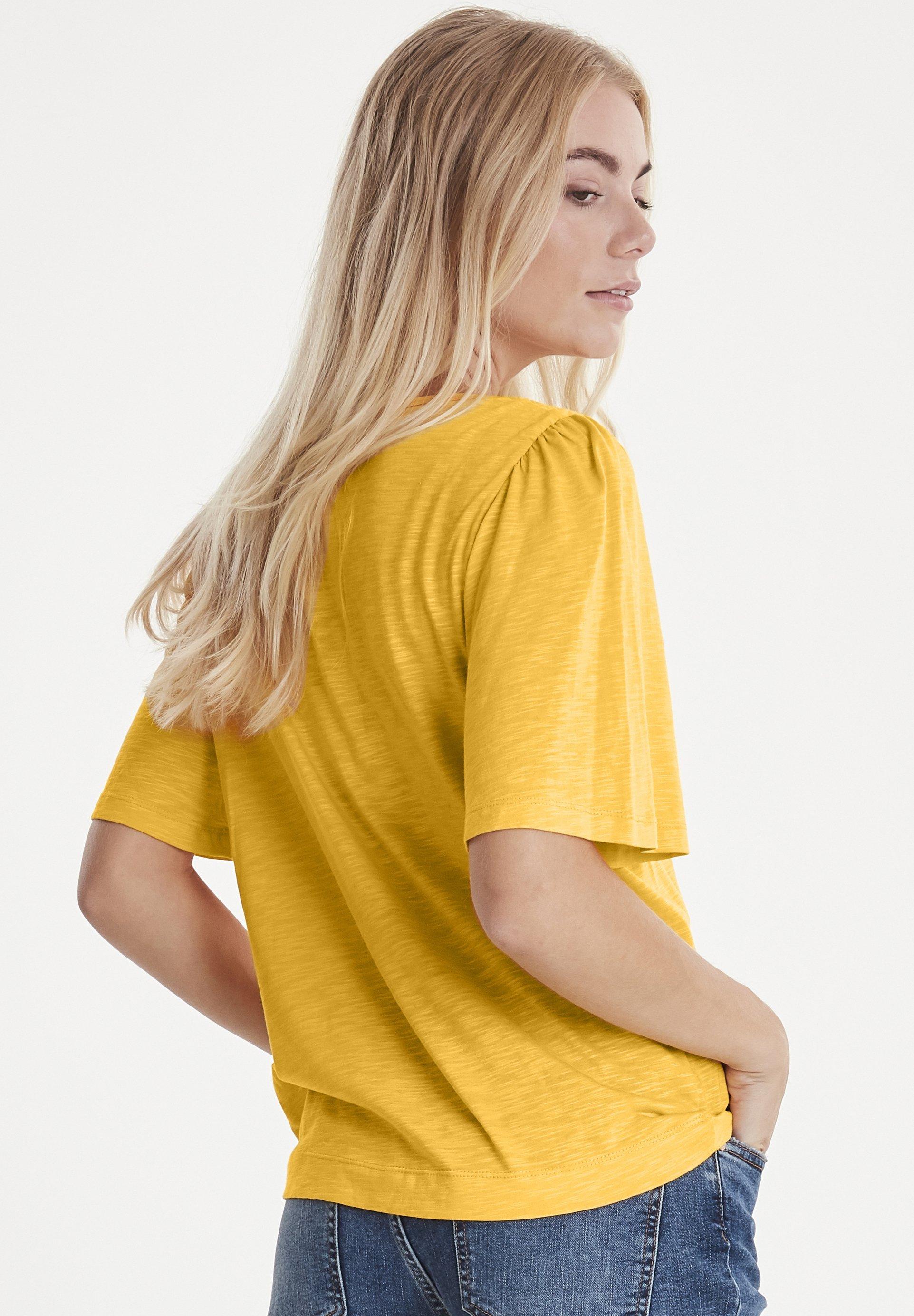 PULZ PZLERCHE - T-shirt basic - dark yellow
