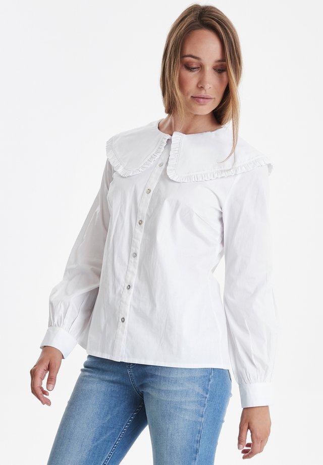 PZPETRINE - Button-down blouse - bright white