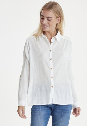PZMARION - Button-down blouse - bright white
