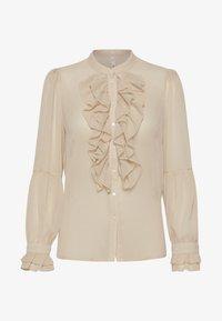 PULZ - PXSTARBLUE SHIRT - Button-down blouse - brazilian sand - 5