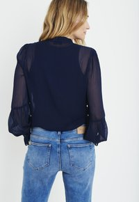 PULZ - PXSTARBLUE SHIRT - Button-down blouse - dark sapphire - 2