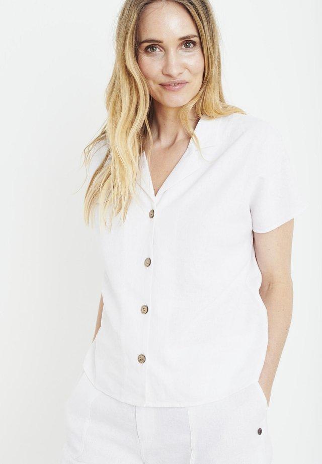 PZBIANCA - Button-down blouse - bright white