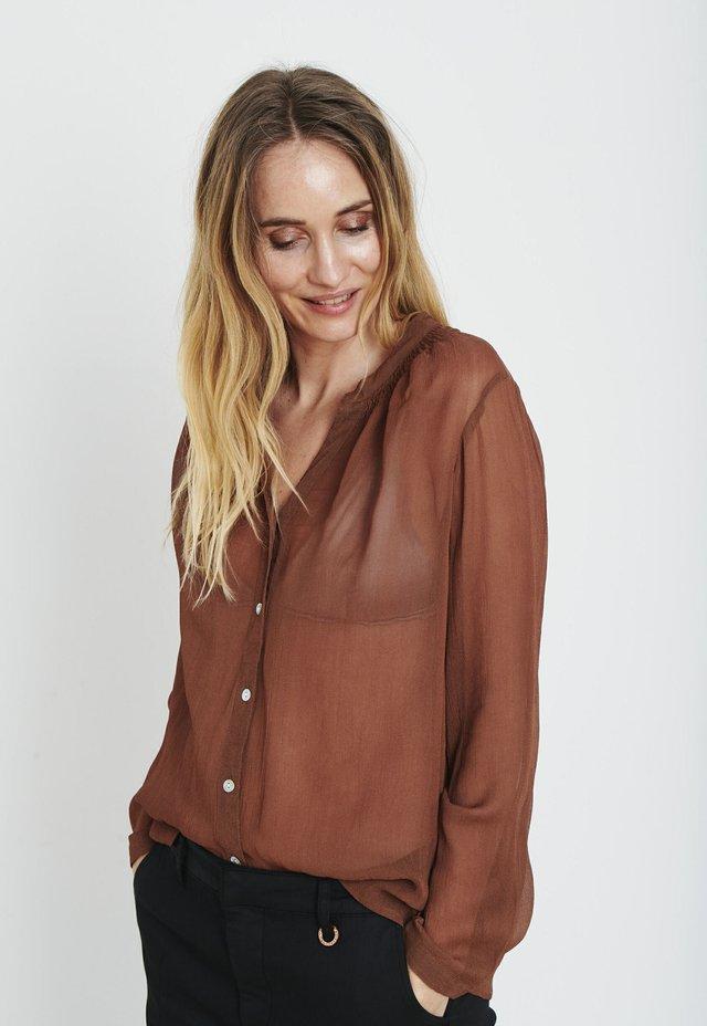 Button-down blouse - bison