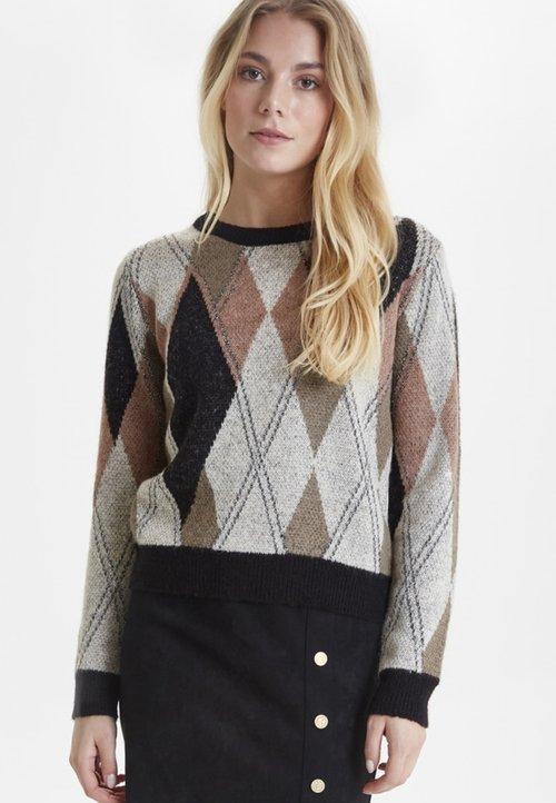 PULZ PZPETRA - Sweter - beige Odzież Damska CYMF-IE1 30% OBNIŻONE