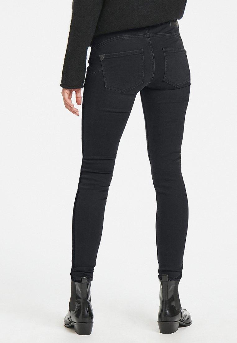 PULZ - KATRINA MIDWAIST - Jeans Skinny Fit - black denim