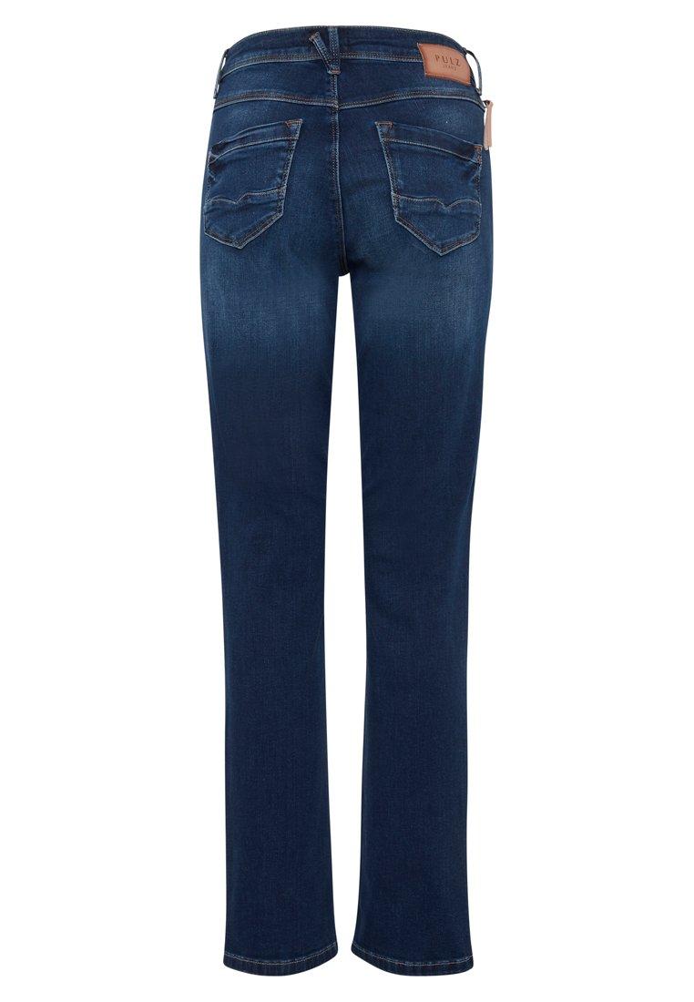 Pulz Karolina Highwaist - Jeans Straight Leg Medium Blue