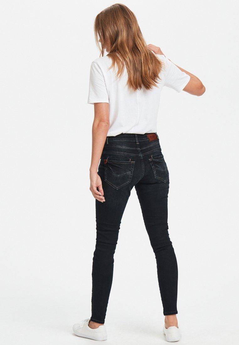 PULZ - MELINA LOOSE - Slim fit jeans - dark blue denim