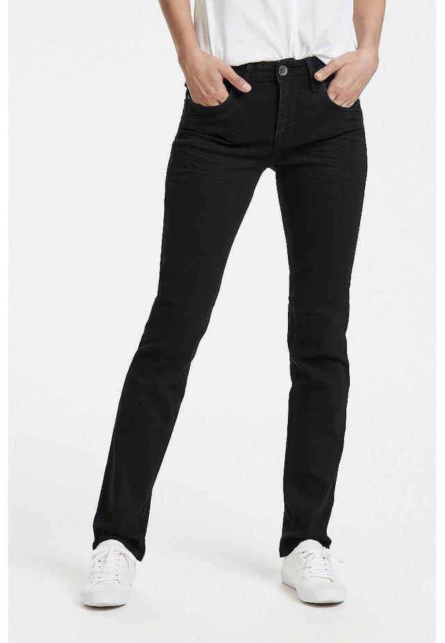 KAROLINA - Jeans Straight Leg - black denim