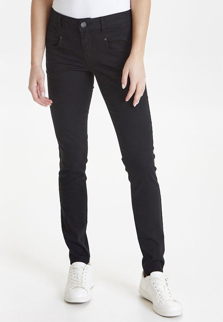 PULZ - CARMEN HIGHWAIST SKINNY - Jeans Skinny Fit - black