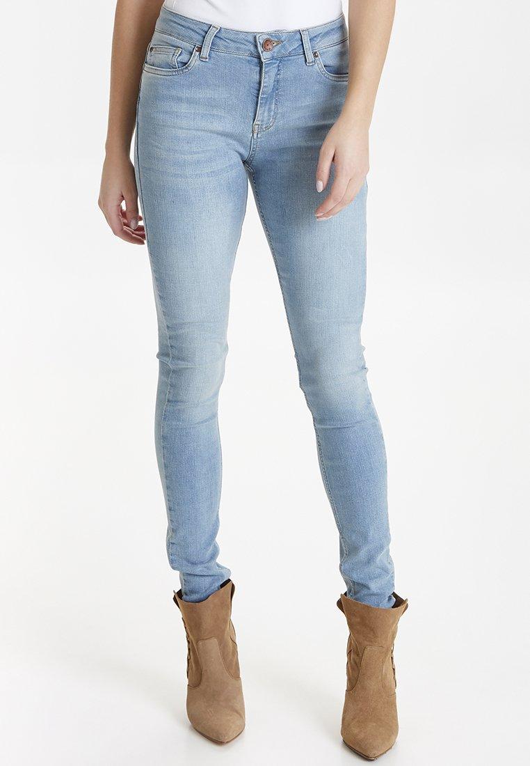 PULZ KAMILLA  - Jeansy Skinny Fit - light blue