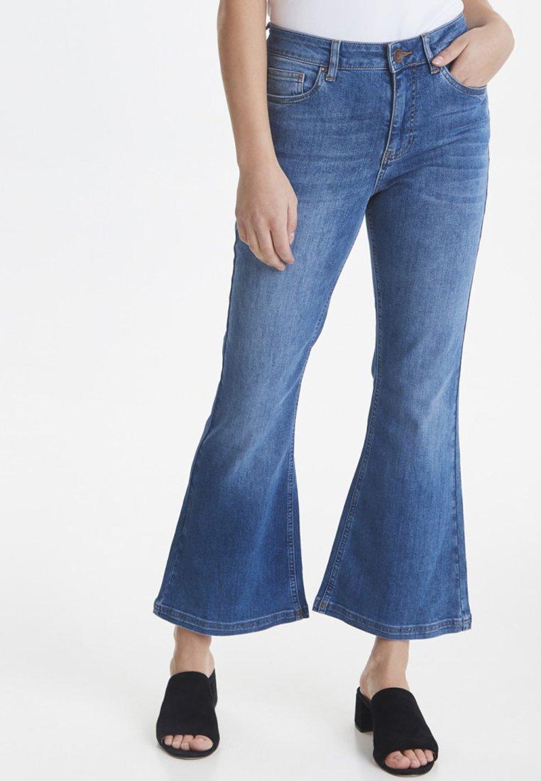 PULZ - PZLIVA - Jeans Bootcut -  blue