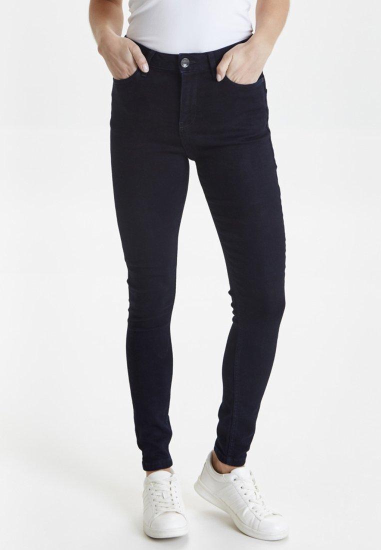 PULZ - PZLIVA  - Jeans Skinny - dark blue denim